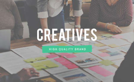 expertise concept: Creatives Designer Ideas Occupation Expertise Concept Stock Photo
