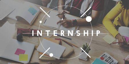 trainee: Internship Apprentceship Management Trainee Concept Stock Photo