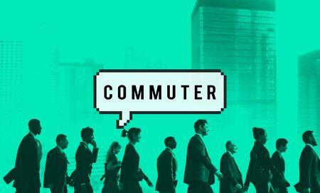 hustle: Commuter Pedestrian Passenger Traveller Wanderer Concept