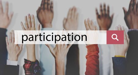 join: Participation Join Help Involvement Concept