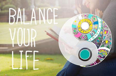 Balance Your Life Equality Steady Concept
