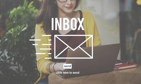 correspondencia: Correspondencia por correo electr�nico envelpoe Buz�n de mensaje Concept