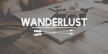 wanderlust: Wanderlust Traveling Adventure Journey Vacation Concept