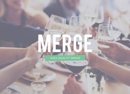 merging together: Merge Team Teamwork Join Cooperation Concept