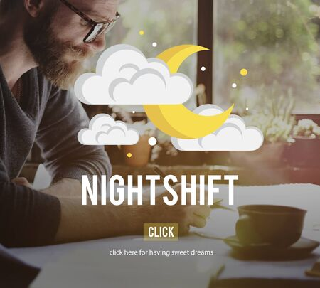 overtime: Nightshift Business Evening Hours Overtime Concept
