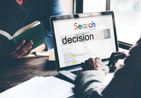 decide: Decision Decide Deciding Determination Opportuity Concept Stock Photo