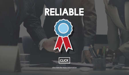 trusting: Reliable Trusty Badge Responsible Concept