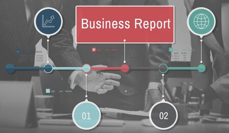 resulting: Business Report Resulting Information Article Concept