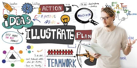 illustrate: Illustrate Illustration Design Creative Abstract Art Concept Stock Photo