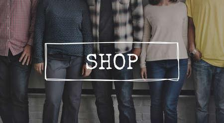 distributor: Shop Shopping Spending Distributor Friends Concept