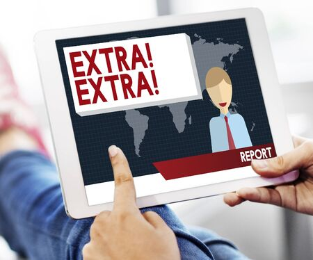 important: Extra Important Announcement Advertisement Concept Stock Photo