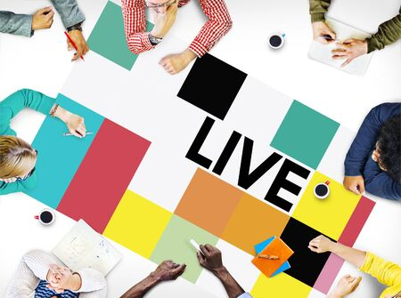 alive: Live Lifestyle Life Alive Balance Concept Stock Photo