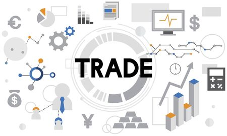 barter system: Trade Commerce Merchandise Sale Business Concept