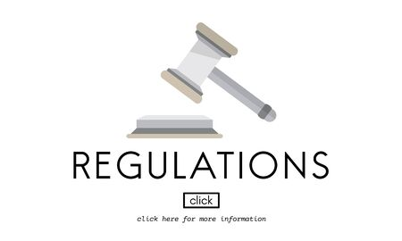 regulations: Regulations Business Condition Legal Protocol Concept Stock Photo