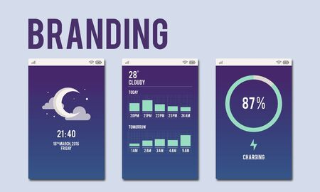 advertisment: Branding Advertisment Copyright Value Profile Concept