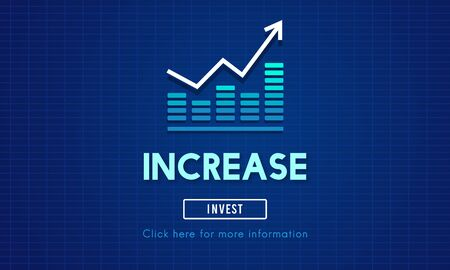 elevate: Increase Enlarge Expand Extend Growth Rise Concept Stock Photo