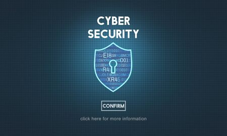 spyware: Cyber Security Protection Firewall Interface Concept Stock Photo