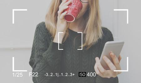 shutter speed: Camera Photography Portrait Art Concept