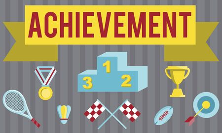 accomplishment: Achievement Accomplishment Vision Development Concept Stock Photo