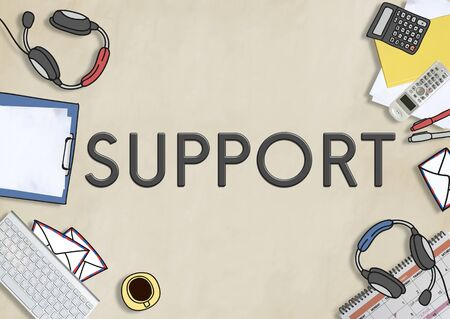 helpful: Support Satisfaction Service Helpful Motivation Concept Stock Photo