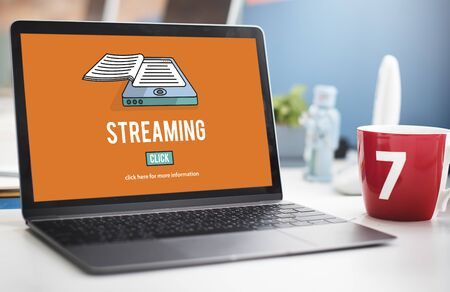 streaming: Streaming Live Broadcast Media Internet Online Networking Concept Stock Photo