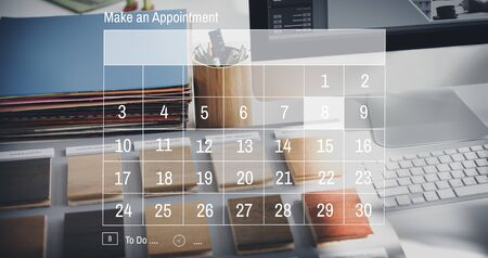 schedule appointment: Calendar Agenda Appointment Schedule Concept Stock Photo