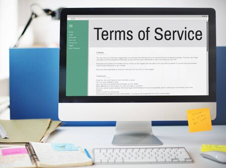 information technology law: Terms of Service Conditions Rule Policy Regulation Concept