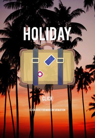 nightfall: Holiday Travel Trip Journey Bag Symbol Concept
