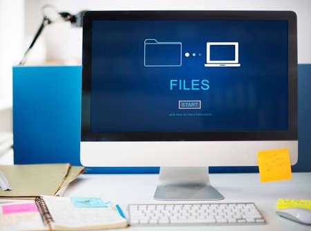 Dateien Data Information Nachricht Network Share-Konzept