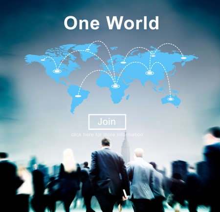 business relationship: One World Peace Connection Relationship Interconnection Concept