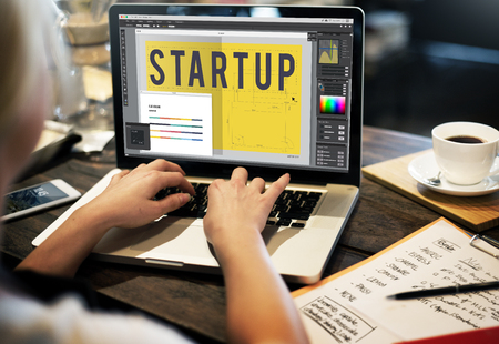Start up Word Design Editorial Artwork Concept