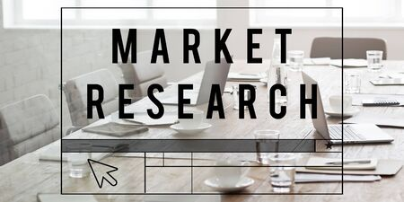 consumer marketing: Market Research Analysis Consumer Marketing Strategy Concept Stock Photo