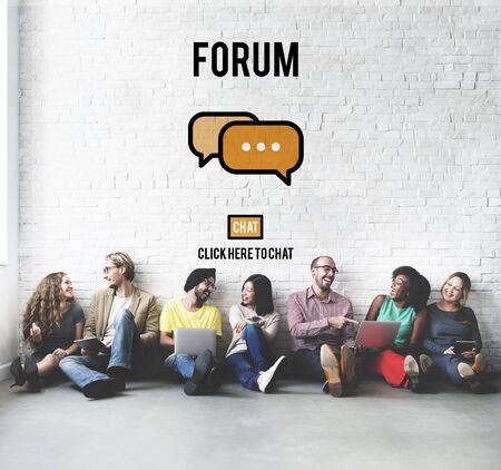 topic: Discuss Forum Chat Group Topic Concept