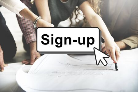 signup: Sign-Up Join Login Member Network Page User Concept