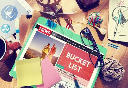 aspirations: Bucket List Goals Aspirations Inspiration Motivation Concept