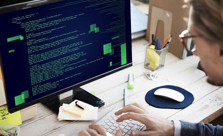 Php プログラミング Html コーディング サイバー スペース コンセプト 写真素材