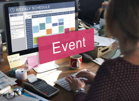 Woman scheduling for an event