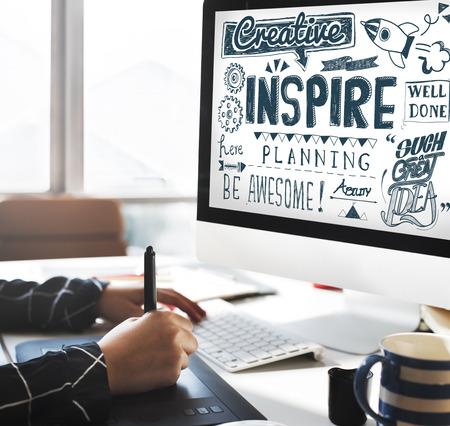 inspire: Inspire Aspiration Expectation Goal Hopeful Concept