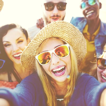 enjoyment: Happiness Celebrate Community Enjoyment Tour Concept