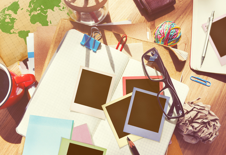 medium group of object: Designer Desk Architectural Tools Notebook Working Place Concept