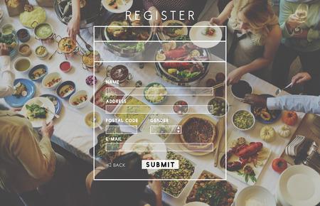 registry: Register Application Apply Enter List Membership Concept Stock Photo