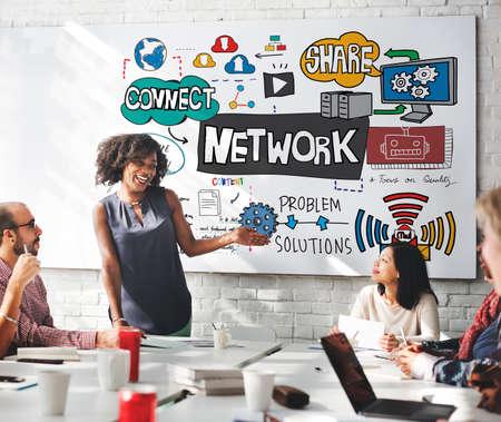 diversity domain: Network onnection Technology Digital Modern Concept