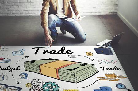 merchandise: Trade Business Dealing Exchange Merchandise Swap Concept