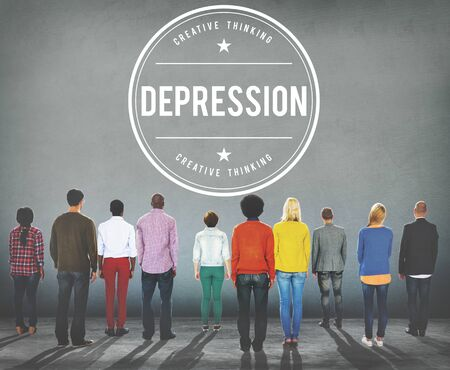 downturn: Depression Downturn Decline Recession Crisis Concept Stock Photo