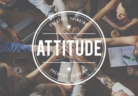 positive feeling: Attitude Positive Thinking Mind Feeling Concept Stock Photo