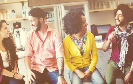 Conversation Talking Friends Student Concept