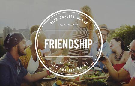 trato amable: Amigos amistad Community Fellowship Concepto de las personas Foto de archivo