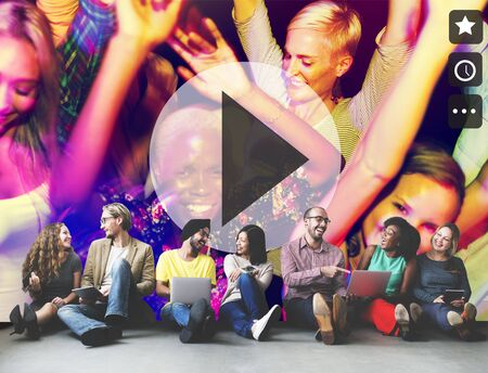 Speel Knoppictogram Muziekvideo Audioconcept