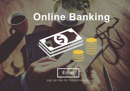 technology transaction: Online Banking Money Transaction System Concept