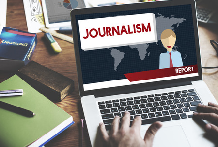 journalism: Journalism News Interview Article Content Concept Stock Photo